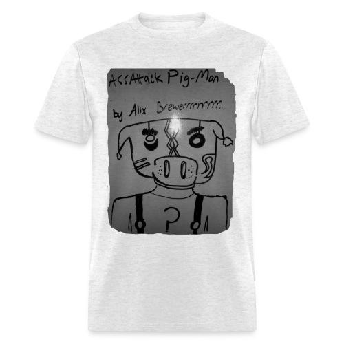 ass-attack pig-man - Men's T-Shirt