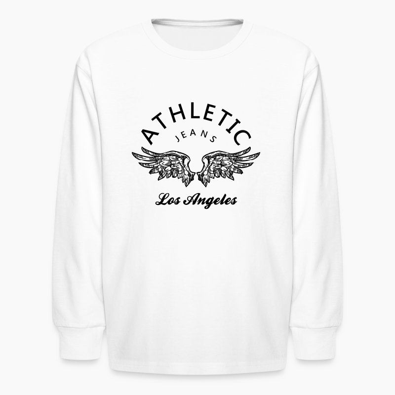 Athletic jeans los angeles long sleeve shirt spreadshirt for Los angeles long sleeve shirt