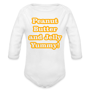 Peanut Butter and Jelly Yummy! - Long Sleeve Baby Bodysuit
