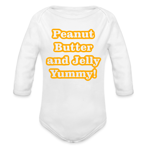 Peanut Butter and Jelly Yummy! - Organic Long Sleeve Baby Bodysuit