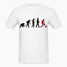 evolution of man soccer T-Shirts