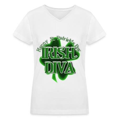 IRISH DIVA - Women's V-Neck T-Shirt