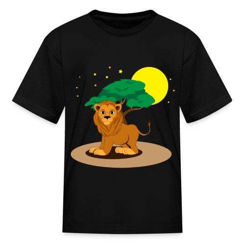 Night Lion - Kids' T-Shirt