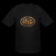 T-Shirts ~ Men's Tall T-Shirt ~ AUF Logo - Men's TALL T-Shirt - basic Logo - GOLD bordered LOGO + flex URL