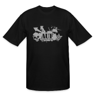 T-Shirts ~ Men's Tall T-Shirt ~ AUF Logo - Men's TALL T-Shirt - basic Logo - Metallic Silver LOGO + URL