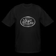 T-Shirts ~ Men's Tall T-Shirt ~ AUF Logo - Men's TALL T-Shirt - basic Logo - Silver bordered LOGO + Silver metallic URL