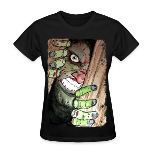 womens zombie breaking in - Women's T-Shirt