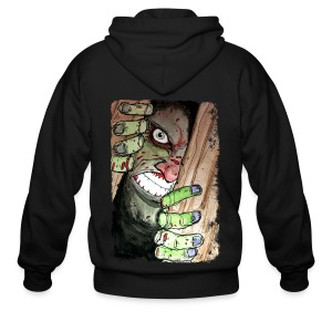 mens zombie breaking in - Men's Zip Hoodie