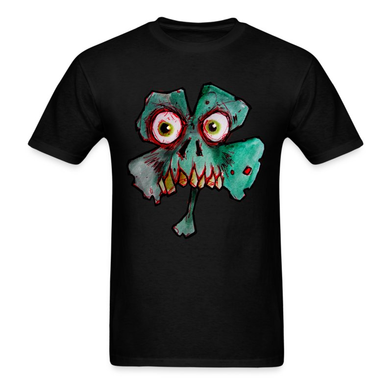 mens zombie shamrock - Men's T-Shirt