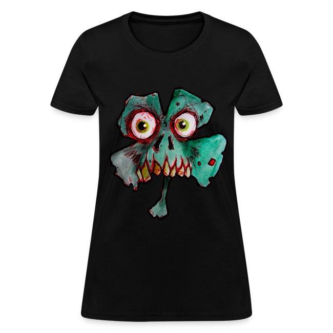 womens zombie shamrock