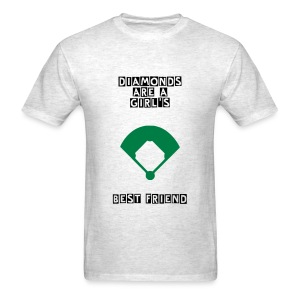 Cleatchasers - Diamonds Are a Girl's Best Freind T- - Men's T-Shirt
