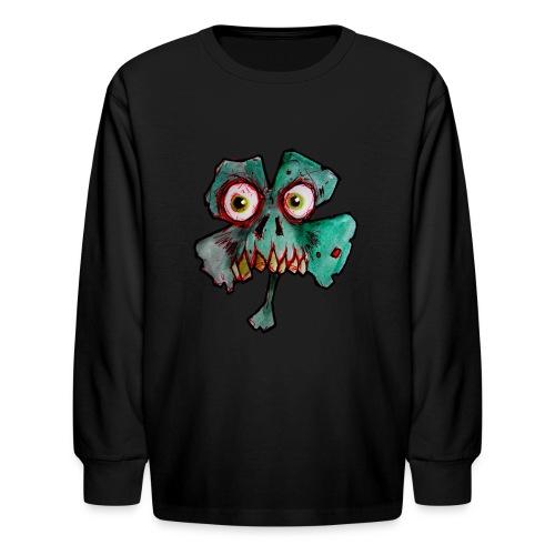 kids zombie shamrock - Kids' Long Sleeve T-Shirt