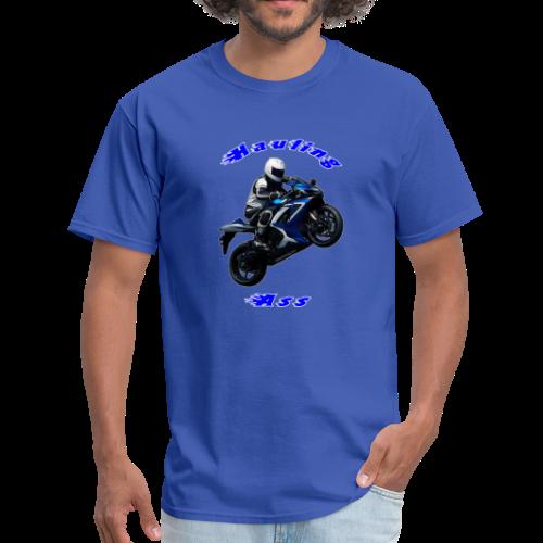 Men's T SportBlue Hauling Ass (Front) - Men's T-Shirt