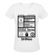 T-Shirts ~ Women's V-Neck T-Shirt ~ [SHINee] Jongkey Washtag