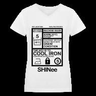 Women's T-Shirts ~ Women's V-Neck T-Shirt ~ [SHINee] Jongkey Washtag