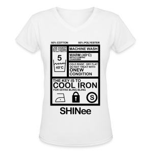[SHINee] Jongkey Washtag - Women's V-Neck T-Shirt