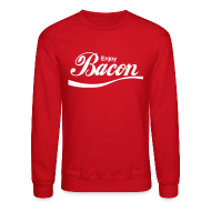 Long Sleeve Shirts ~ Men's Crewneck Sweatshirt ~ Enjoy Bacon Crewneck