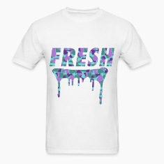 Fresh Drips Purple Camo Tee