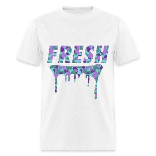 Fresh Drips Purple Camo Tee - Men's T-Shirt