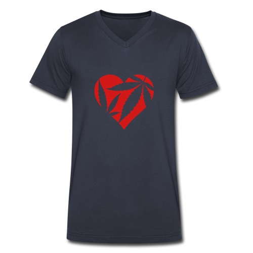 Heart Weeds  - Men's V-Neck T-Shirt by Canvas