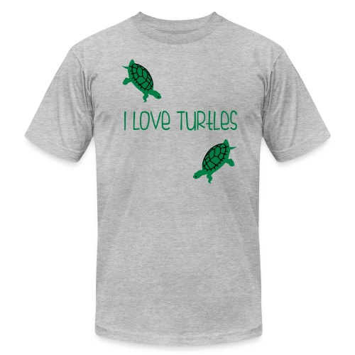 I Love Turtles - Men's Fine Jersey T-Shirt