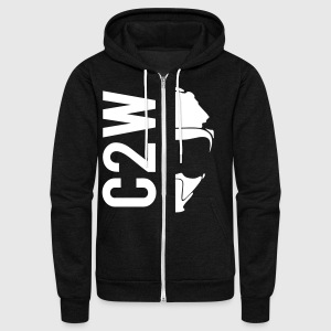 ChaseOnTwoWheels Split Logo Zip Hoodies/Jackets - Unisex Fleece Zip Hoodie by American Apparel