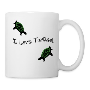 I Love Turtles Mug - Coffee/Tea Mug