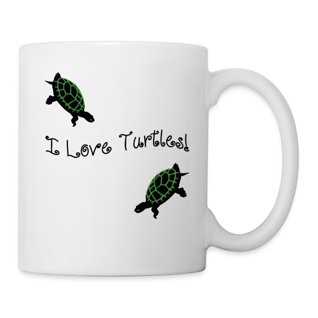 I Love Turtles Mug
