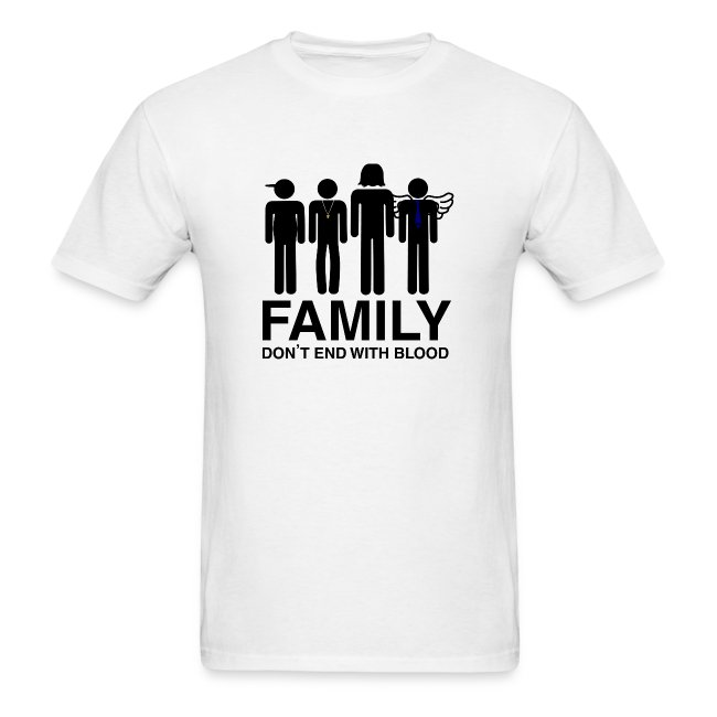 Non Timebo Mala Supernatural Family Dont End With Blood Mens T