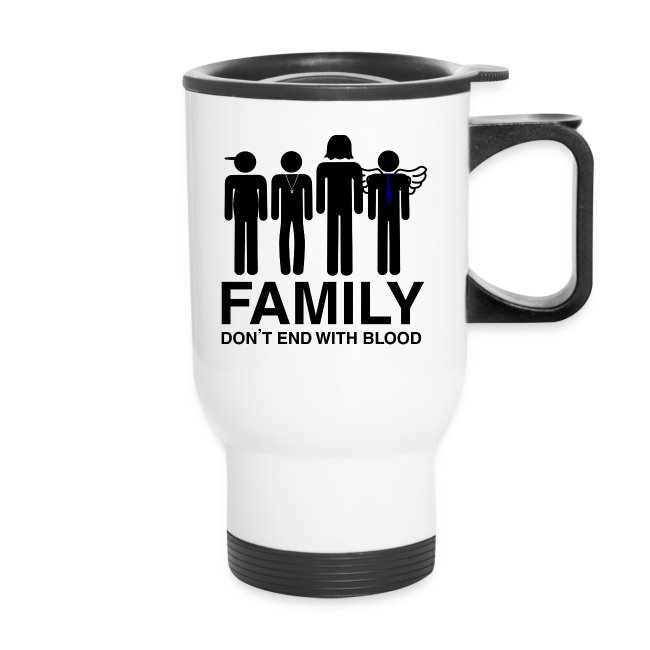 Non Timebo Mala Supernatural Family Dont End With Blood Travel Mug