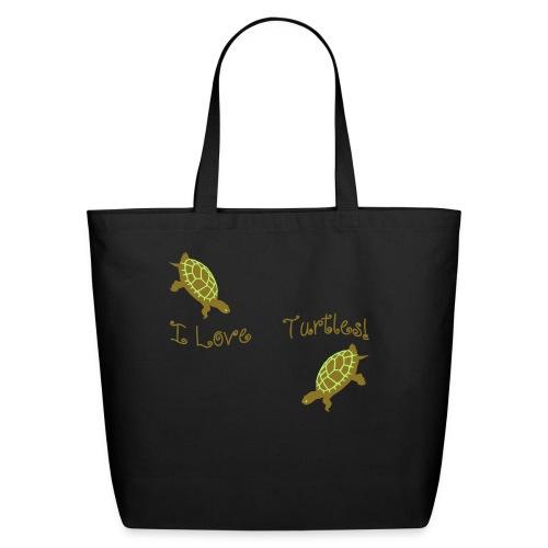 I Love Turtles - Eco-Friendly Cotton Tote