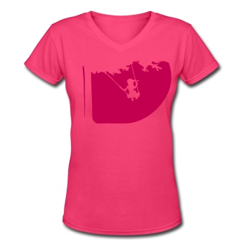Summertime swing Pink2 - Women's V-Neck T-Shirt