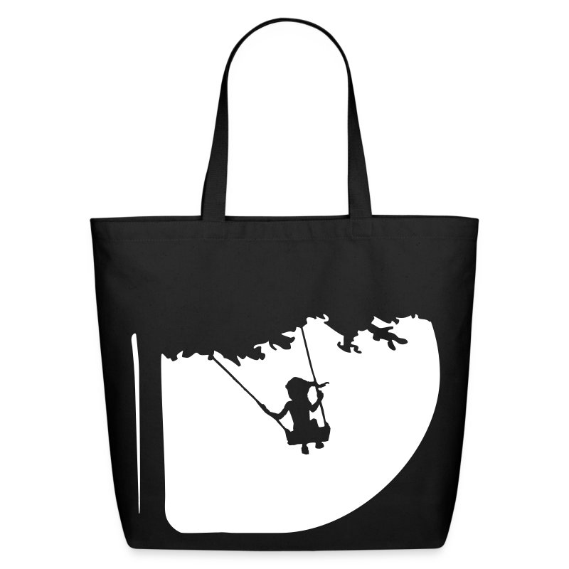 Summertime swing Black Cotton Tote - Eco-Friendly Cotton Tote