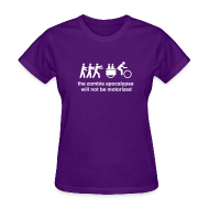 Women's T-Shirts ~ Women's T-Shirt ~ Ws - Family Xtracycle Zombie