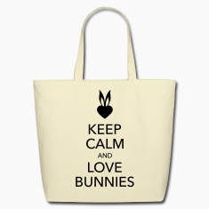 keep calm and love bunnies Bags