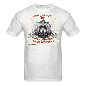 The League of Extraordinary Beer Drinkers Crest Men's T-Shirt (Double Sided) - Men's T-Shirt