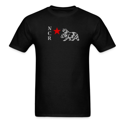 NCR Armor Emblem Shirt (Red and Grey Graphic) - Men's T-Shirt