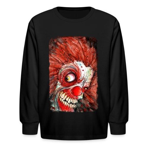 kids zombie clown - Kids' Long Sleeve T-Shirt