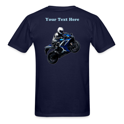 Men's T SportBlue Custom (Back) - Men's T-Shirt