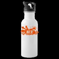 Sportswear ~ Water Bottle ~ AUF Logo - Metal Drink Bottle - Basic Logo - URL text box