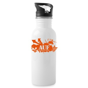 AUF Logo - Metal Drink Bottle - Basic Logo - URL text box - Water Bottle
