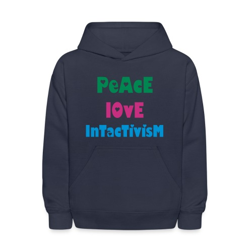 Peace Love Intactivism [2 Sides / Text Change Available] - Kids' Hoodie