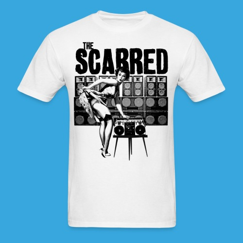 The Scarred Boombox Pinup Shirt - Men's T-Shirt