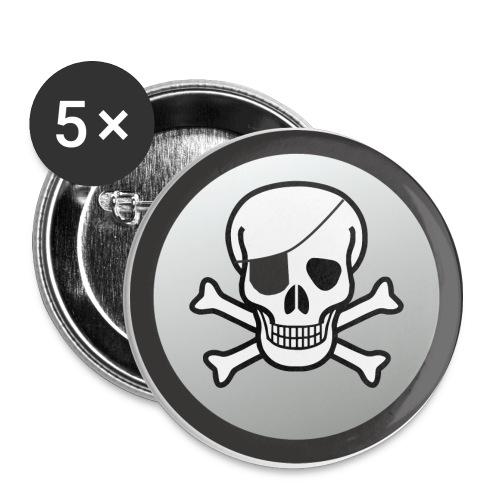 EyepatchSkullCrossbonesButtonS - Small Buttons