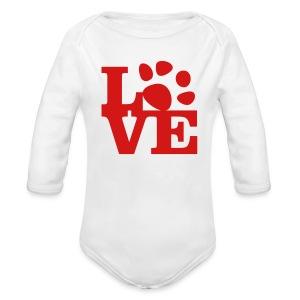Red - Long Sleeve Baby Bodysuit