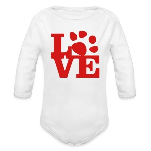 Red - Long Sleeve Baby Bodysuit