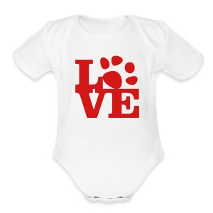 Red - Short Sleeve Baby Bodysuit