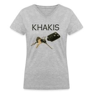 Khakis - Women's V-Neck T-Shirt