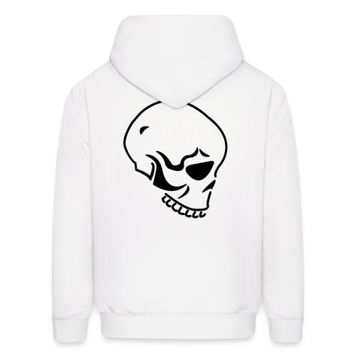Skull on Back Hooded Sweatshirt - Men's Hoodie