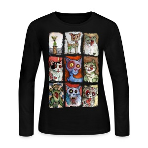 womens 9 zombie cats - Women's Long Sleeve Jersey T-Shirt